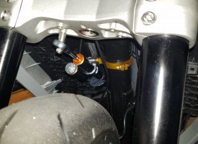 画像1: RPM ステアリングダンパーマウントキット [シグナスX ・BW'S125]