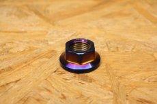 画像4: PK7 リアホイールアクスル ナット ステン 焼き色 1個 [シグナスX・BW'S125] (4)