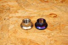 画像2: PK7 リアホイールアクスル ナット チタン 焼き色 1個 [シグナスX・BW'S125] (2)