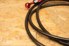 画像8: GARUDA メッシュブレーキホース(定番在庫カラー お得品!)ブラック×レッド (フロント/リア) [シグナスX ・BW'S125] (8)
