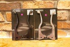 画像1: HYPER DESIGN CNCショートブレーキレバー [4・5型シグナスX 2型BW'S](ブラック/シルバー) (1)
