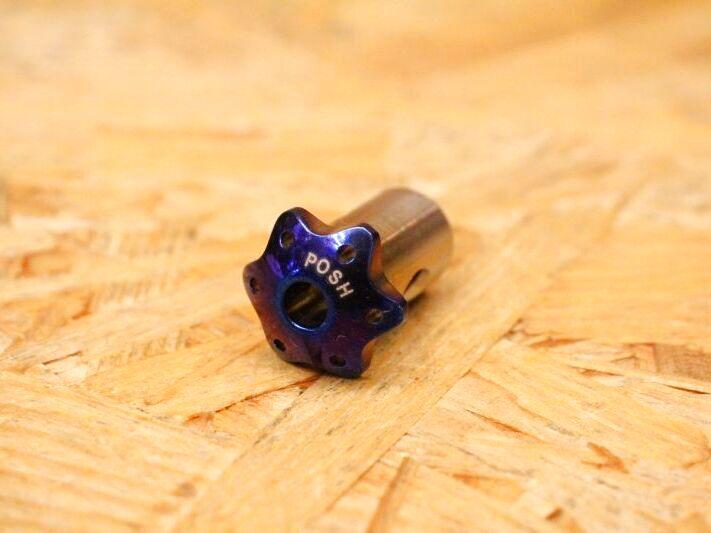 画像1: PK7 リアブレーキアームピン チタン 焼き色 [1.2.3型シグナスX・1型BW'S125] (1)