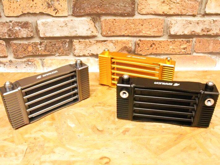 画像1: ※新型 GARUDA 5段ストレート オイルクーラー単品(ブラック/ガンメタ/ゴールド) (1)